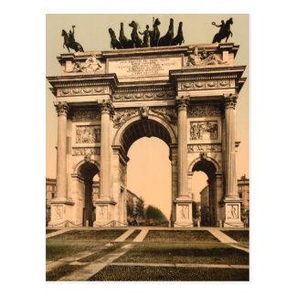 El arco de la paz, Milano, Lombardía, Italia Postal