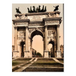 El arco de la paz, vintage Photochrom de Milano, I Postal