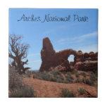 El arco de la torrecilla arquea el parque nacional azulejo