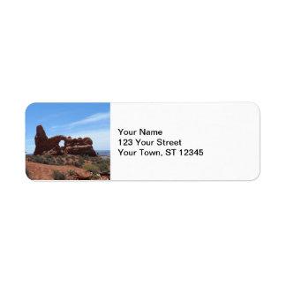El arco de la torrecilla arquea el parque nacional etiqueta de remite