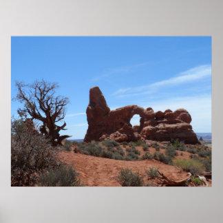 El arco de la torrecilla arquea el parque nacional posters