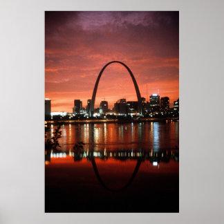 El arco de St. Louis en la fotografía de la Póster