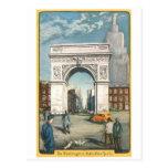 El arco de Washington. Nueva York. Pintura del vin Postales