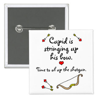 El arco del Cupid Pin Cuadrada 5 Cm