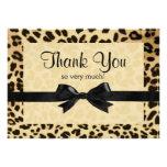 El arco del estampado leopardo le agradece observa invitaciones personalizada