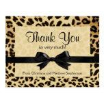 El arco del estampado leopardo le agradece observa postales