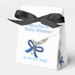 El arco del negro del traqueteo del bebé azul de paquetes de regalo para bodas