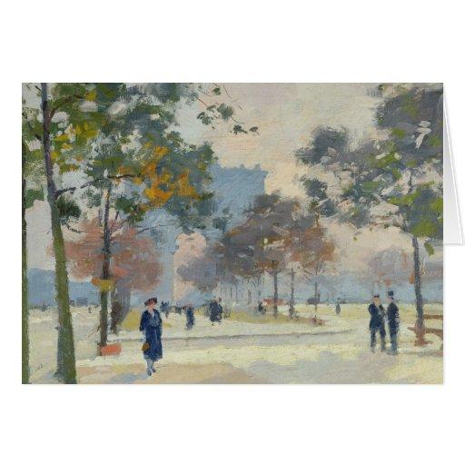 El Arco del Triunfo en otoño, París Felicitaciones