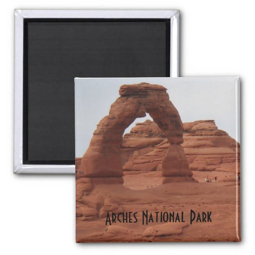 El arco delicado arquea el parque nacional imán cuadrado