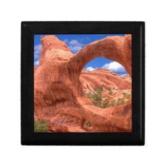 El arco doble del parque O arquea Utah Caja De Joyas