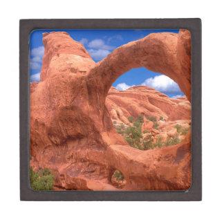 El arco doble del parque O arquea Utah Caja De Recuerdo De Calidad