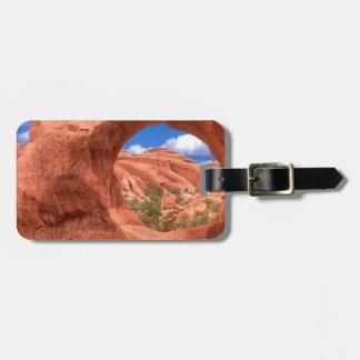 El arco doble del parque O arquea Utah Etiquetas Bolsas