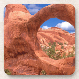 El arco doble del parque O arquea Utah Posavasos De Bebida