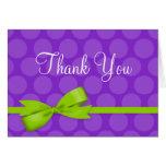 El arco impreso lunar verde púrpura le agradece felicitaciones