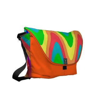 El arco iris agita la bolsa de mensajero bolsa de mensajería