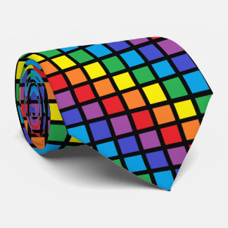 El arco iris ajusta negro corbatas personalizadas
