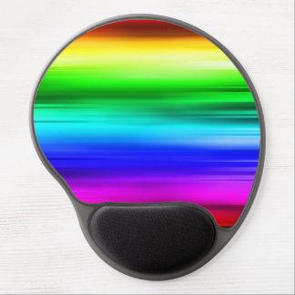 El arco iris alinea el mousepad alfombrillas de ratón con gel
