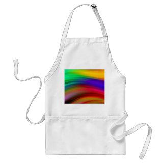 El arco iris apacible agita el extracto delantal