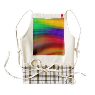 El arco iris apacible agita el extracto delantal zazzle HEART
