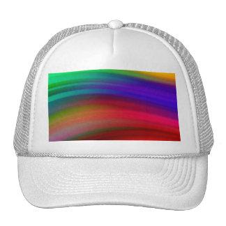 El arco iris apacible agita el extracto gorras de camionero