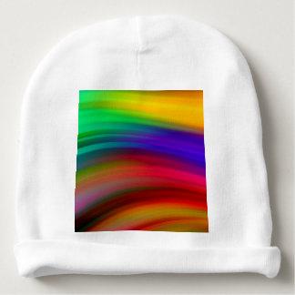 El arco iris apacible agita el extracto gorrito para bebe