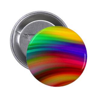 El arco iris apacible agita el extracto pin redondo de 2 pulgadas