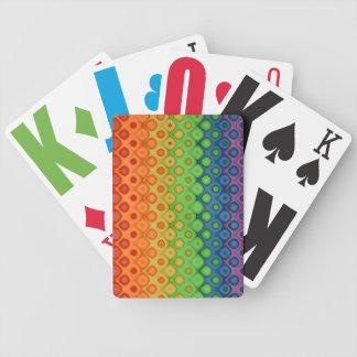 El arco iris artístico burbujea modelo cartas de juego
