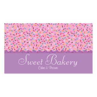 El arco iris asperja la panadería tarjetas de visita