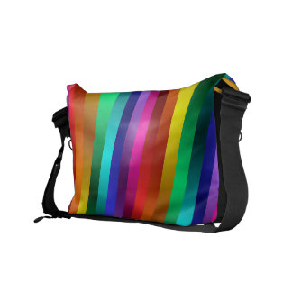 El arco iris brillante brillante raya la bolsa de bolsa messenger