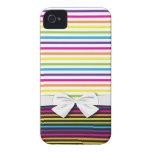 el arco iris brillante raya el modelo Case-Mate iPhone 4 cárcasa