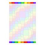 El arco iris burbujea los efectos de escritorio papelería de diseño