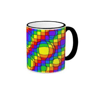 El arco iris burbujea taza