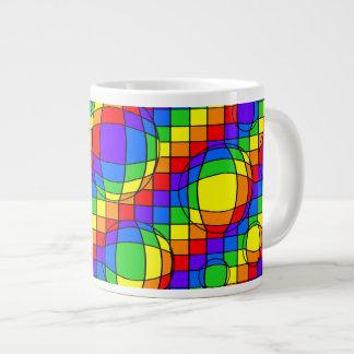 El arco iris burbujea taza de la especialidad taza grande