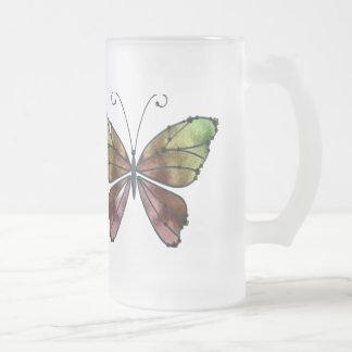 El arco iris caliente de las sombras se va volando taza de cristal