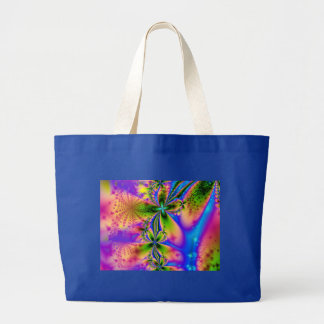 El arco iris chispea bolso bolsa tela grande