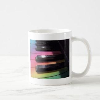 El arco iris cierra la foto taza