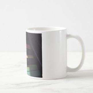El arco iris cierra la foto tazas de café