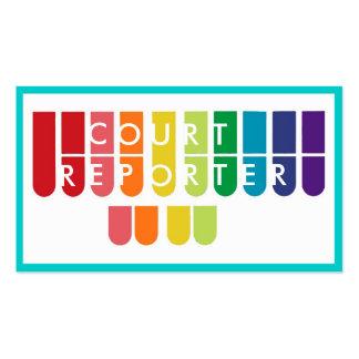 El arco iris cierra tarjetas de visita de encargo