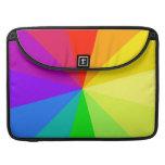 El arco iris colorea arte funda para macbooks