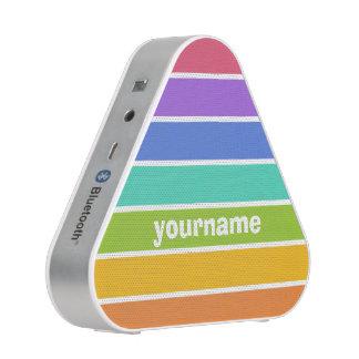 El arco iris colorea el altavoz de encargo