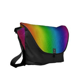 El arco iris colorea el bolso bolsas de mensajeria