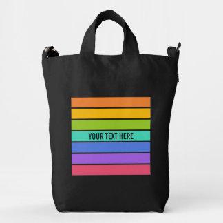 El arco iris colorea el bolso de encargo bolsa de lona duck