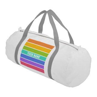 El arco iris colorea el bolso de encargo del bolsa de deporte