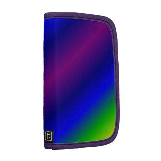 El arco iris colorea el folio del carrito del mode planificadores