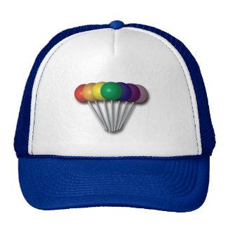 El arco iris colorea el gorra del Lollipop