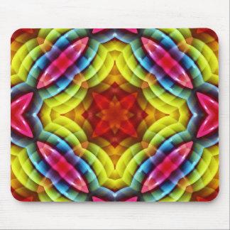 El arco iris colorea el modelo abstracto alfombrilla de ratones