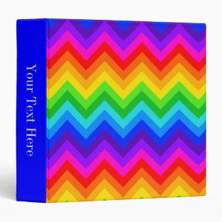 """El arco iris colorea el modelo de zigzag grande de carpeta 1 1/2"""""""