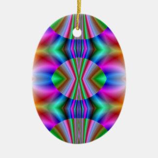 El arco iris colorea el ornamento oval adornos de navidad