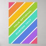 El arco iris colorea el poster de encargo