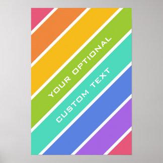 El arco iris colorea el poster de encargo póster